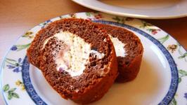 Chocolate Angel Food Roll
