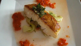 Easy Pan Roasted Sea Bass with Mint Chili Sauce