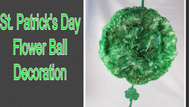 Saint Patrick's Day Flower Ball Decoration DIY Dollar Store Craft
