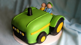 How to Make a Tractorshaped Birthday Cake by romika ifoodtv