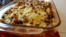 Healthier Macaroni Meat Casserole