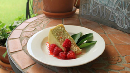 Avocado Cheesecake with a Raspberry Margarita topping