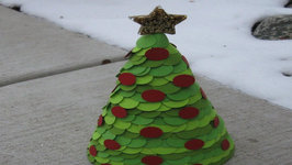 Paper Cone Christmas Tree Craft Tutorial