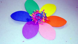 How to Make a Rainbow Construction Paper Flower