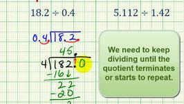 Examples:  Dividing a Decimal by a Decimal