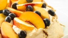 Peach and Nectarine Brown Sugar Pavlova