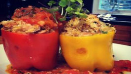 Roasted Chicken and Cous Cous Stuffed Bell Peppers