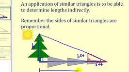 Indirect Measurement Using Similar Triangles