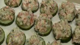 Salmon Spread Cucumber Round