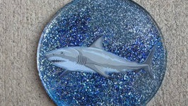 Shark Glitter Coasters For Shark Week! Another Coaster Friday!