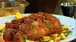 Roasted Pork Tenderloin and Plums