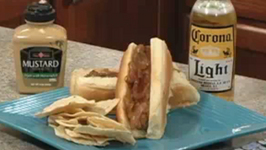 Brats cooked in Beer