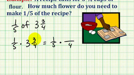 Example 2:  Application Involving Mixed Number Multiplication (recipe)
