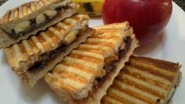 Banana and Choc Hazelnut Spread Panini