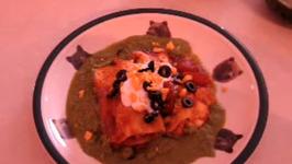 Burrito Style Chicken Enchiladas With Cilantro Sauce
