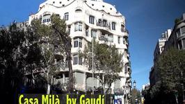 Casa Milà by Gaudi in Barcelona, Catalonia, Spain