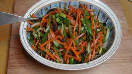 Carrot Salad with Wasabi Dressing - Vegan