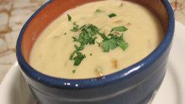 Vegan Cauliflower Cream of Asapargus Soup