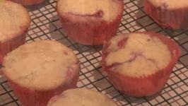 Raspberry Jam Filled Muffin