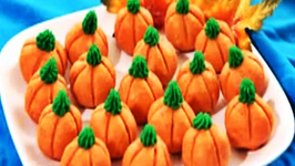 Peanut Butter Fudge Pumpkins - Happy Halloween