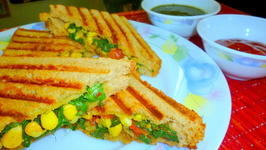 High Fiber Grilled Corn Spinach Sandwich