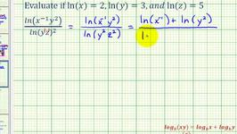 Ex 4: Evaluate a Natural Logarithmic Expression Using the Properties of Logarithms
