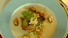 Wild Striped Bass with Scallops and Mussels Sauce