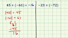 Ex 3:  Adding Integers (Two Digit Integers)