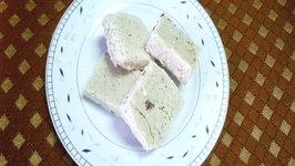 Homemade Thenga Barfi