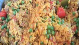 Chopped Beef with Rice (Arrozo con carne)