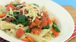 Pasta and Vegetable Casserole by Tarla Dalal