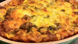 High Protein Mozzarella Pesto Strata
