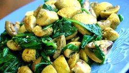 Spinach And Marinated Mushroom Salad