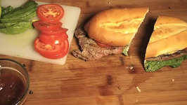 Steak Sandwich in Mexican Style