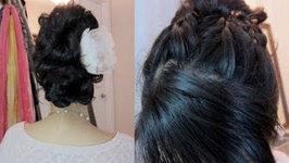 Bridal Hair Tutorial - French Braid Updo