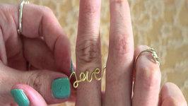 Fashion DIY Love Love  Wire Ring
