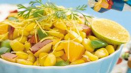 Corn Bhel (Healthy Snacks For Kids) by Tarla Dalal