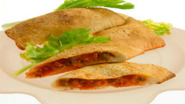 Mushroom Stuffed Pizza Pockets