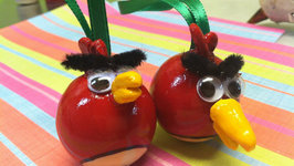 Angry Birds Inspired Red Bird Craft