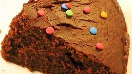 Homemade Eggless Chocolate Cake