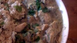 Basic Green Thai Chicken Curry with Coconut Rice Recipe - MYVIRGINKITCHEN
