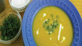 Pumpkin and Dill Seed Soup by Tarla Dalal