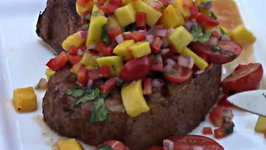 Jamaican Jerk Pork Chops with Mango Salsa Recipe