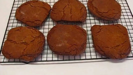 Betty's Giant Gingersnaps Made with Grandson Carter