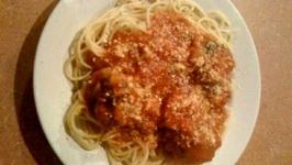 Italian Meat Ball Dinner