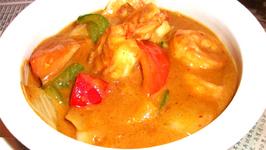 Asian Coconut Shrimp Curry