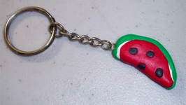 How To Make A Polymer Clay Watermelon Keychain