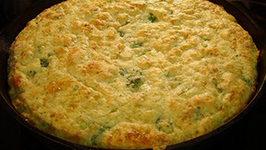 Quick Corn Bread With Chilies N' Cheese