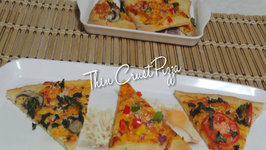 Thin Crust Flat Bread Pizza
