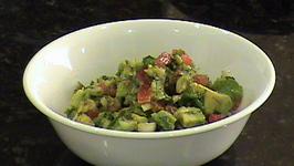 Avocado Salad With Onion And Tomato